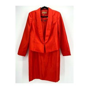 Kasper Sateen Kensington 2 Piece Dress Suit NWT